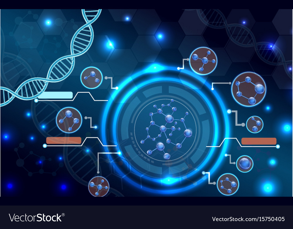 molecular structure and dna background royalty free vector