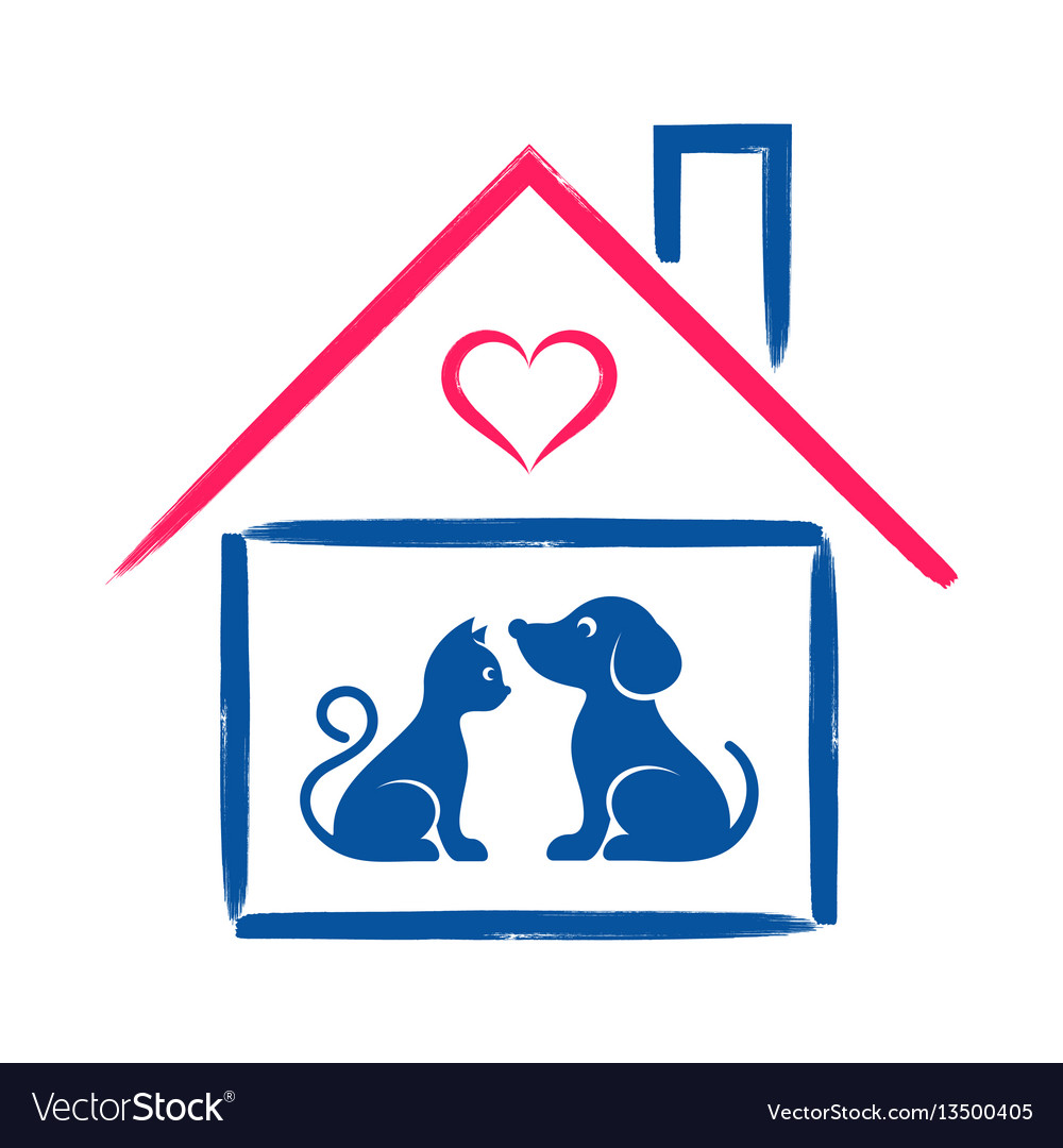 Pet shop or clinic sign vector image
