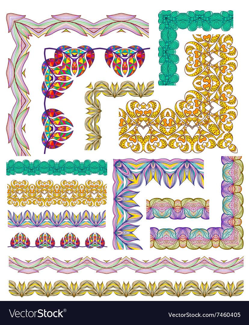 Set of design elements seamless texture