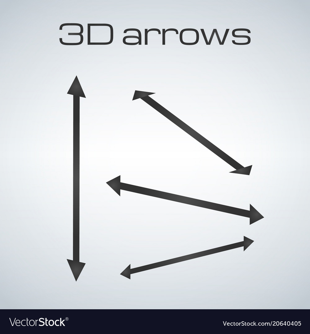 Simple double sided arrows in different