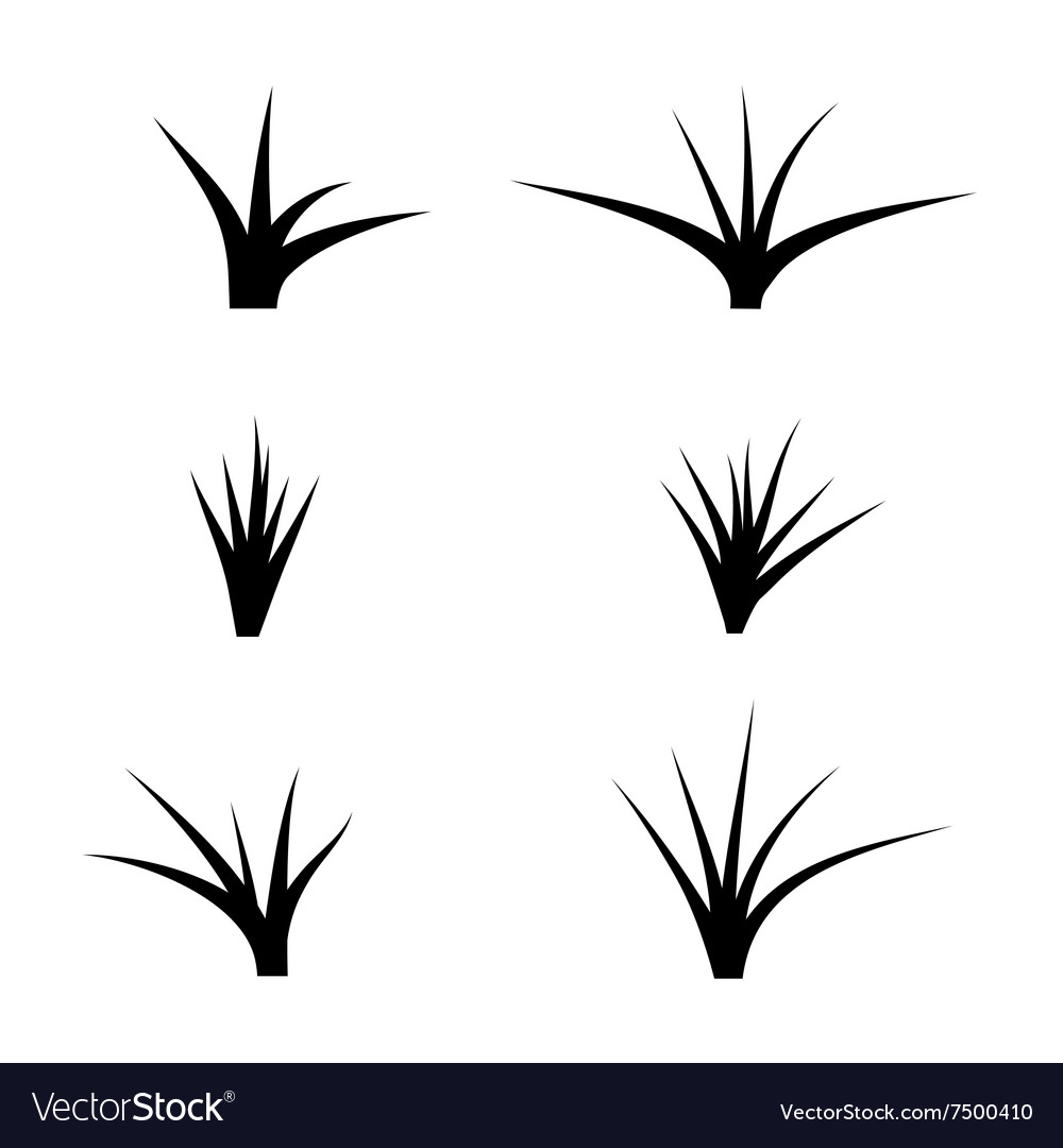 black silhouette of grass royalty free vector image vectorstock