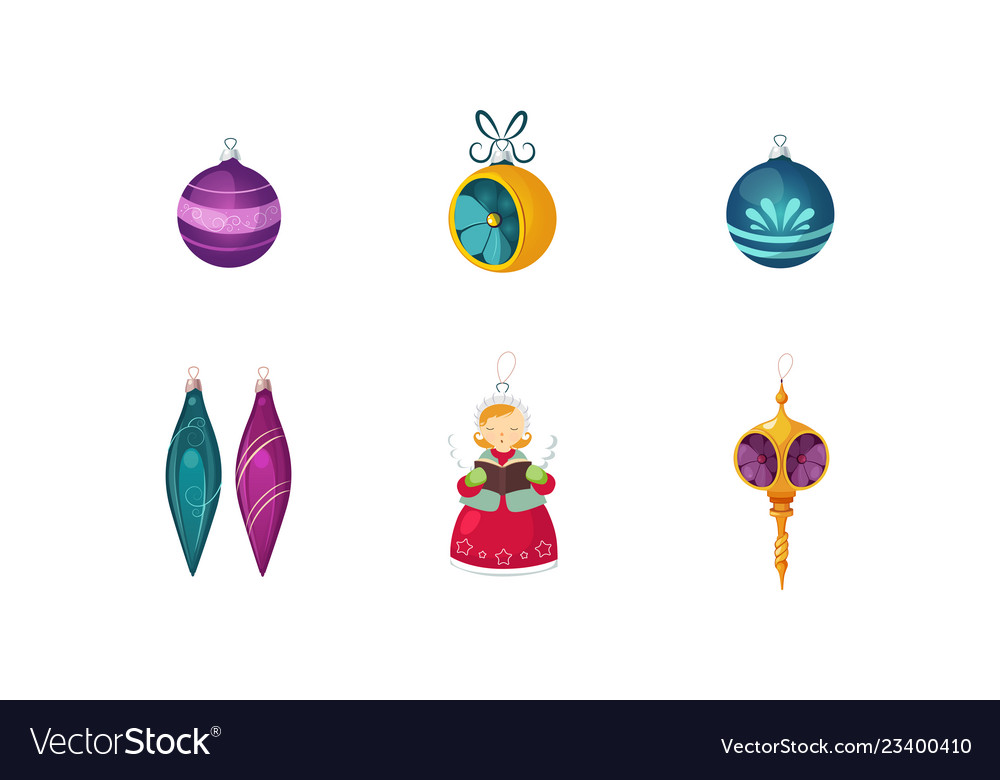 Colorful christmas toys and decorations of