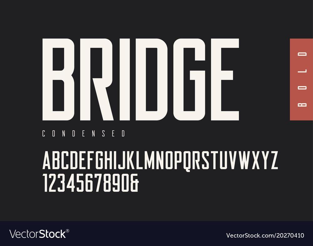 Condensed bold retro sans serif typefaces