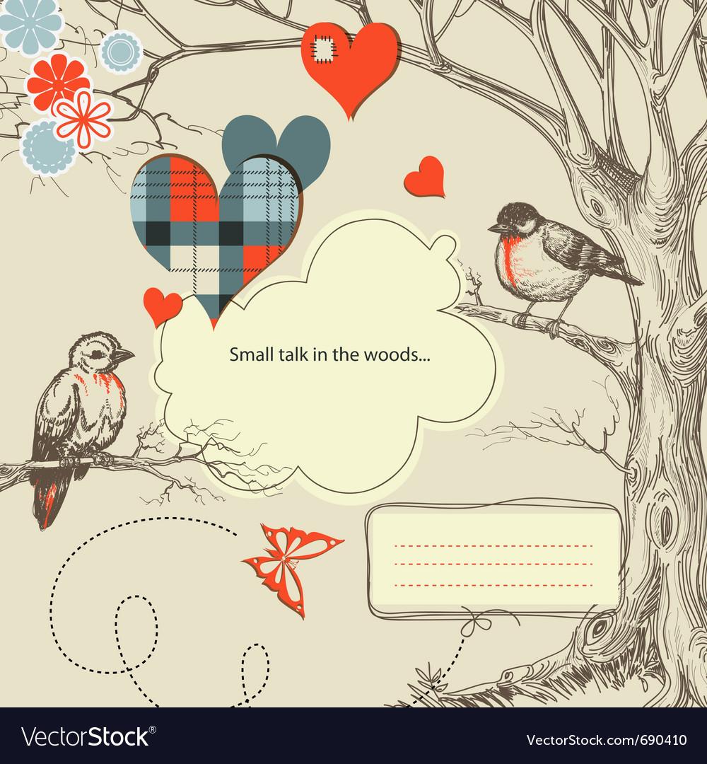 Love birds talk vector image
