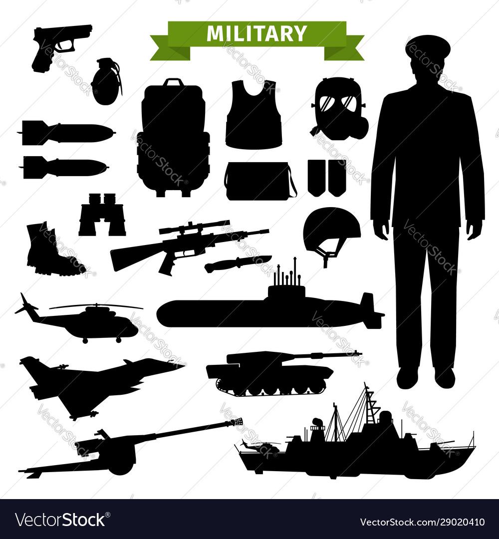 Military transport gun ammunition and officer