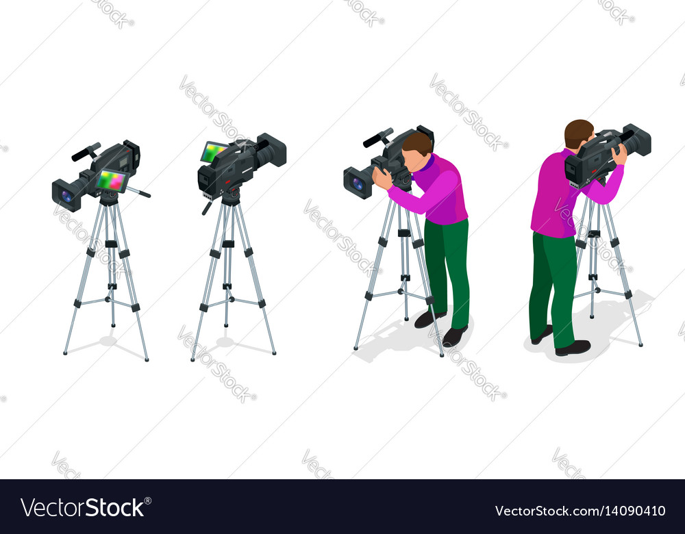 Professional digital video camera and cameraman