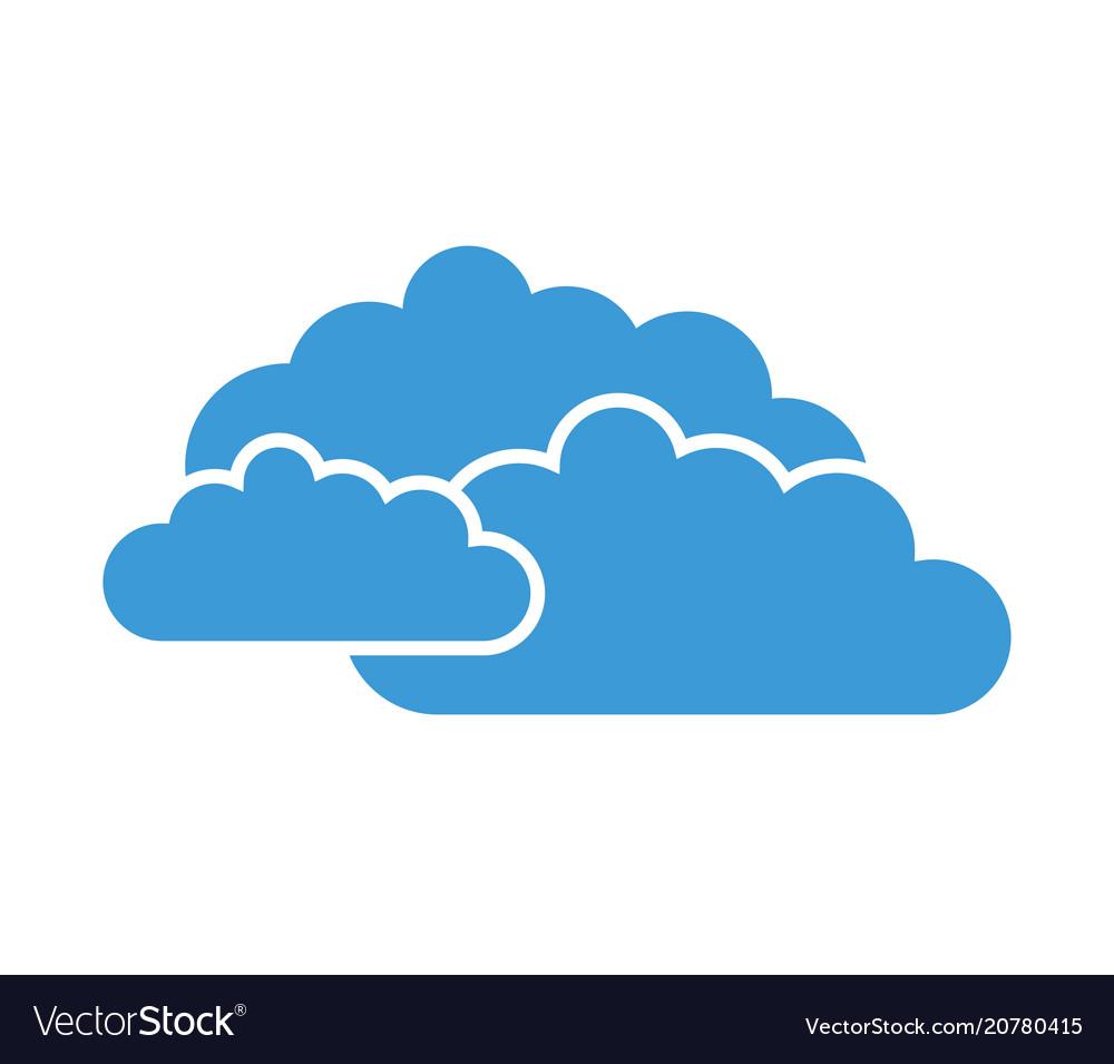 clouds icon royalty free vector image - vectorstock  vectorstock
