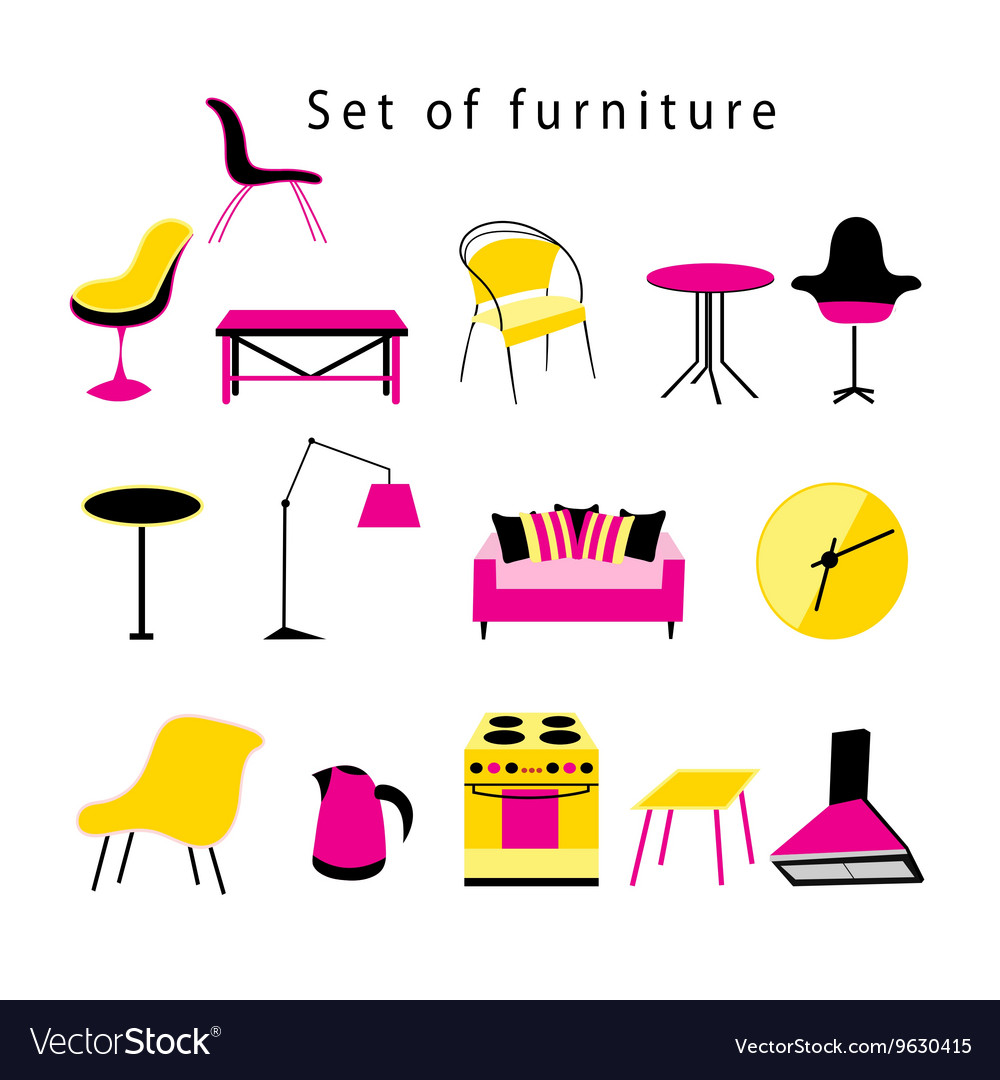 Different furniture and items in the home