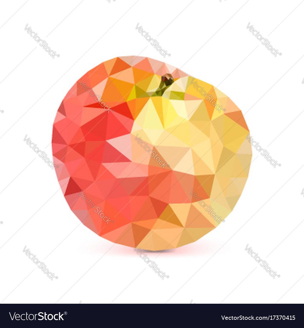 Low-poly triangular apple 3d apple