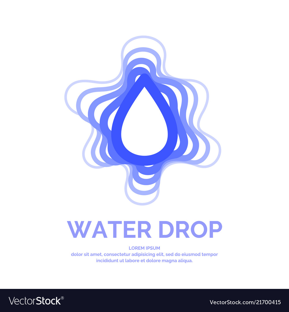 Modern line logo of the water drop
