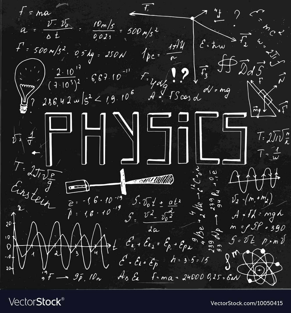 physics blackboard vector education royalty math