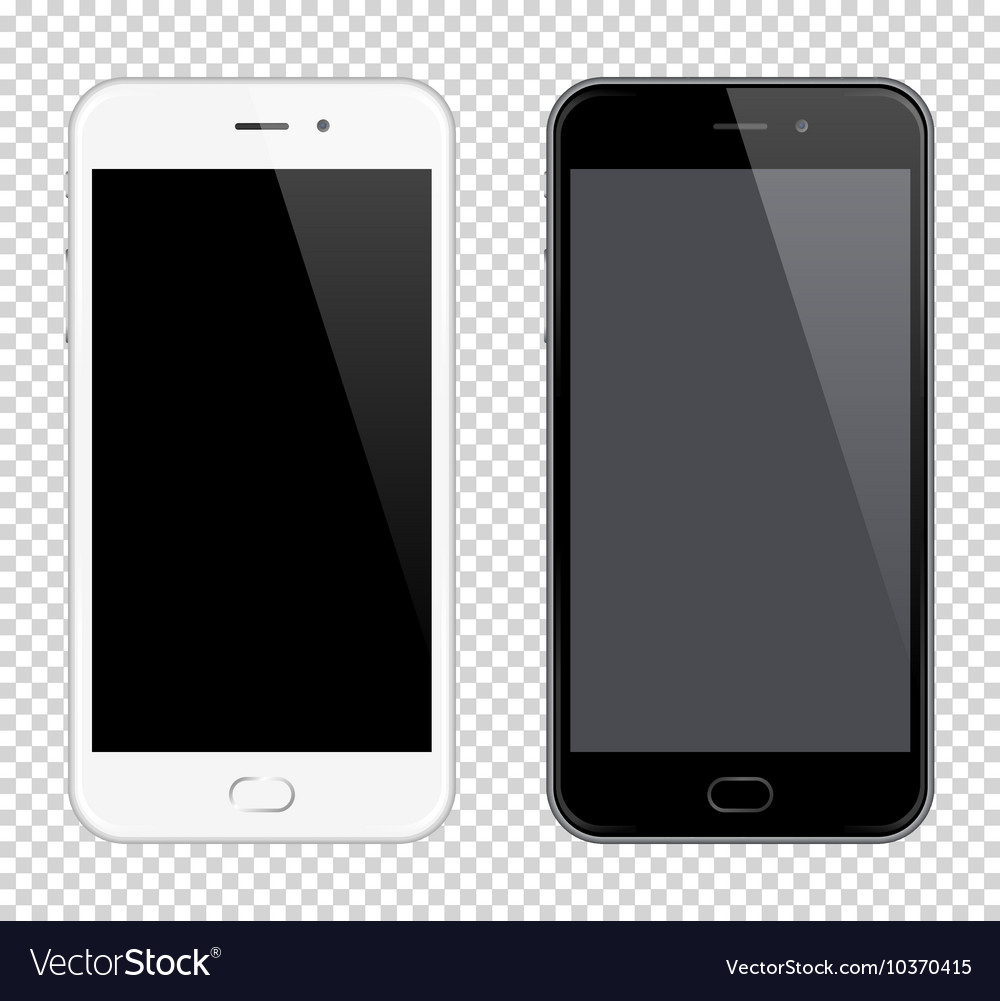 Realistic Mobile Phone Smartphone mock-up vector image
