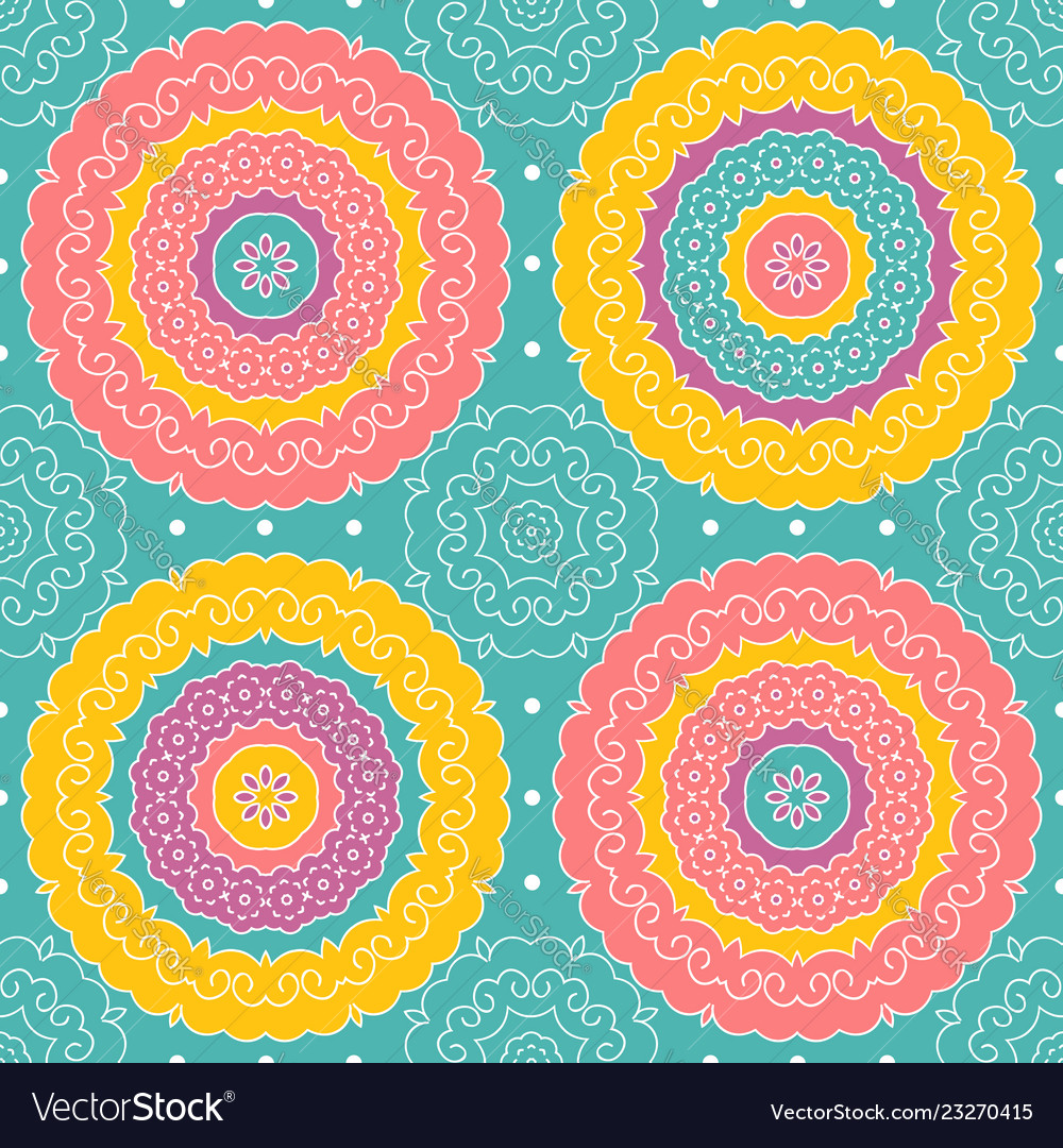 Seamless pattern in indian style