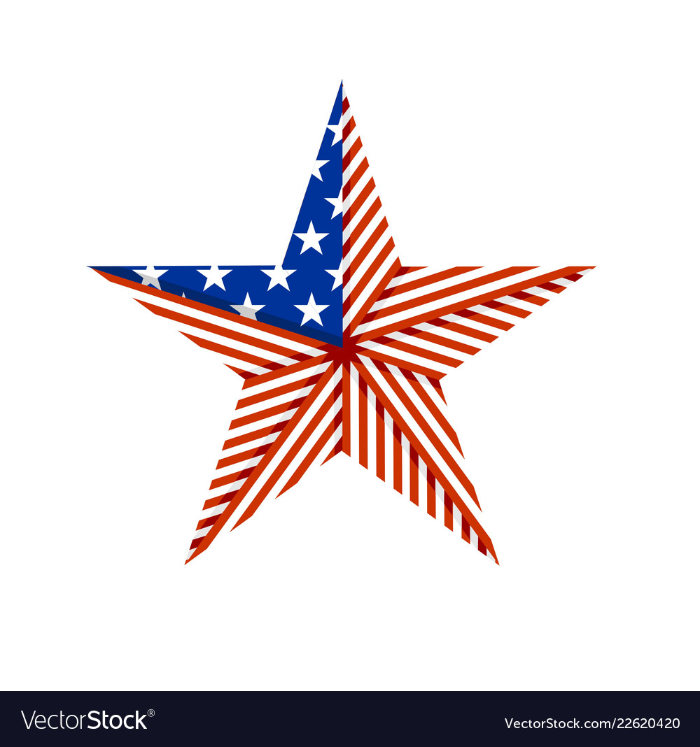 American star folded from the flag