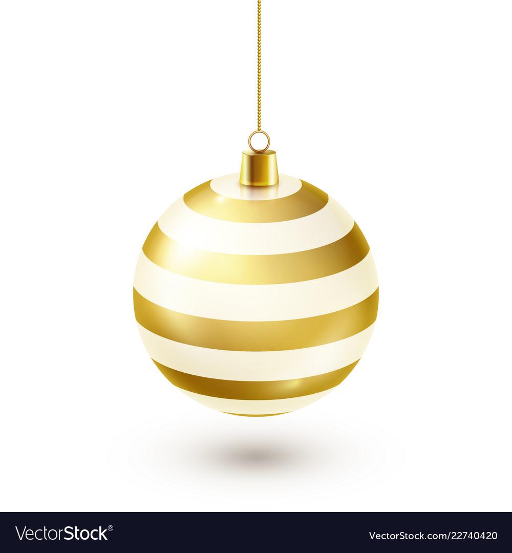 Christmas tree shiny golden ball new year