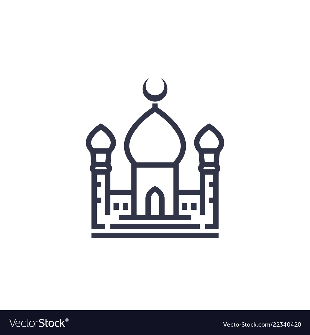 Mosque Icon White