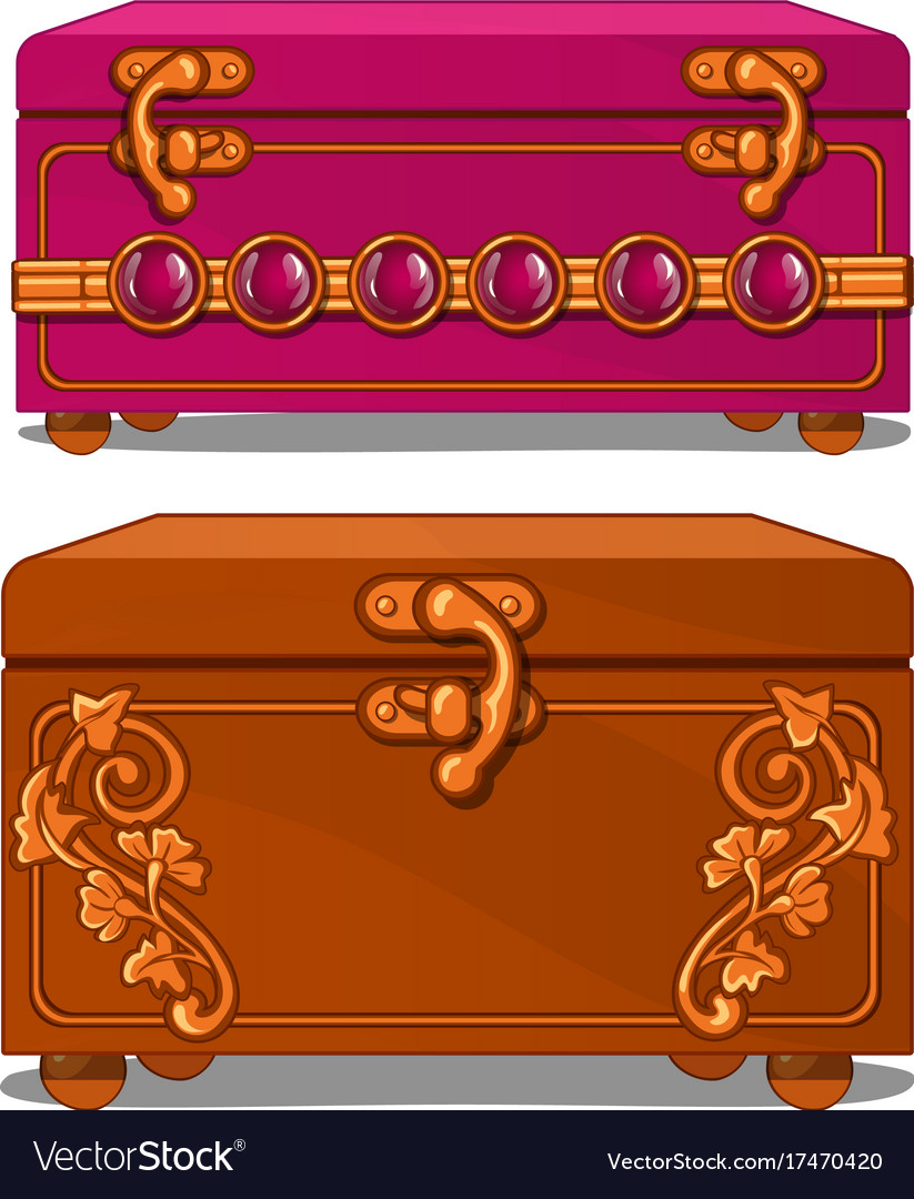 Pink and brown suitcase with floral pattern
