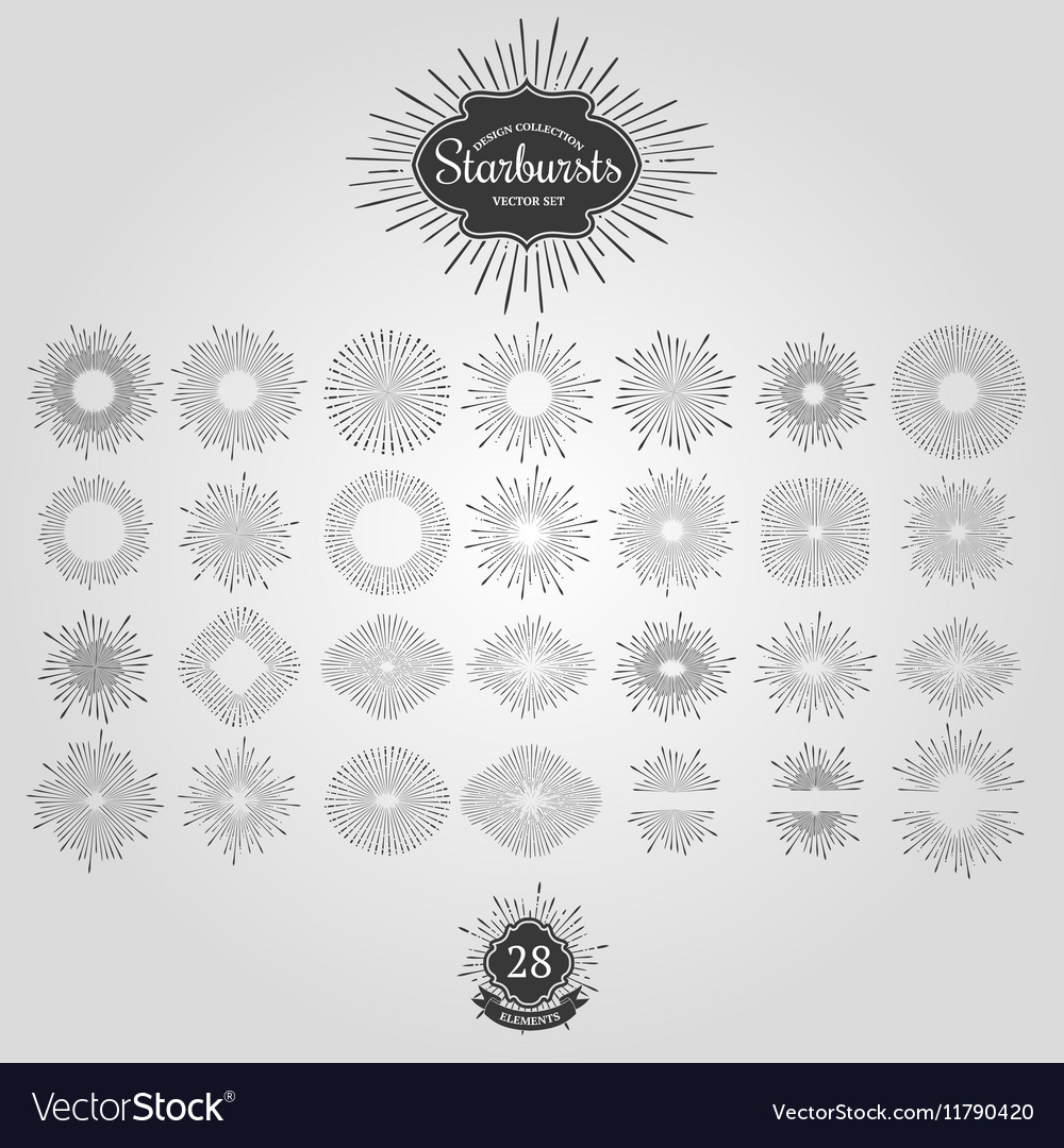 Set starbursts for vintage logos