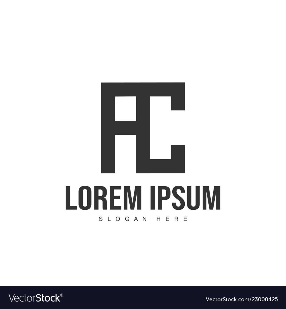 Ac logo template design initial letter logo design