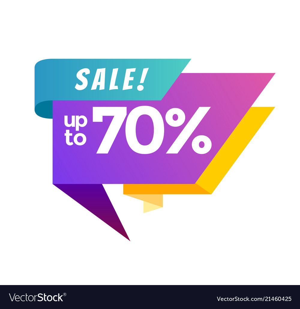 Big sale banner up to 70