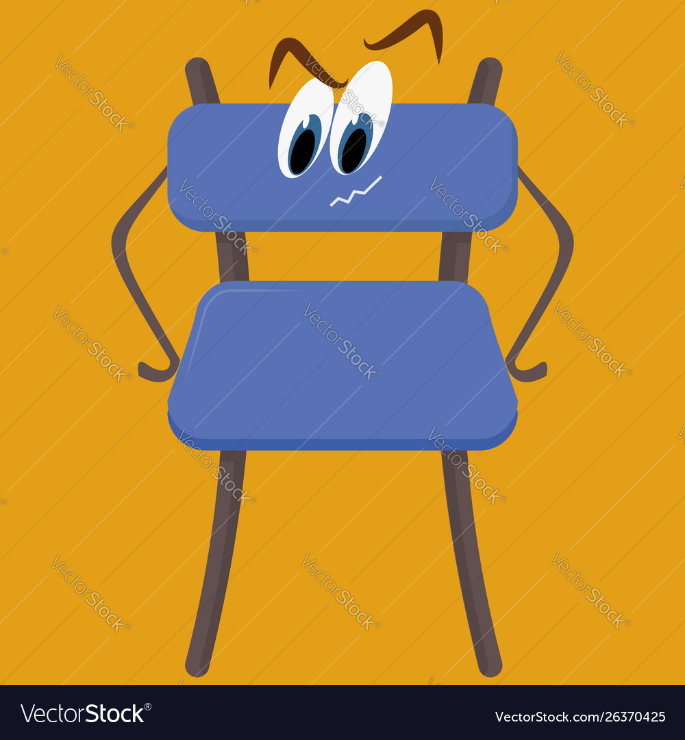 Blue chair on white background