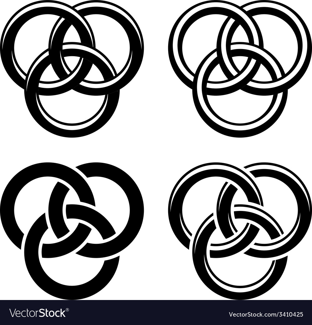 Celtic Knot Black White Symbols Royalty Free Vector Image