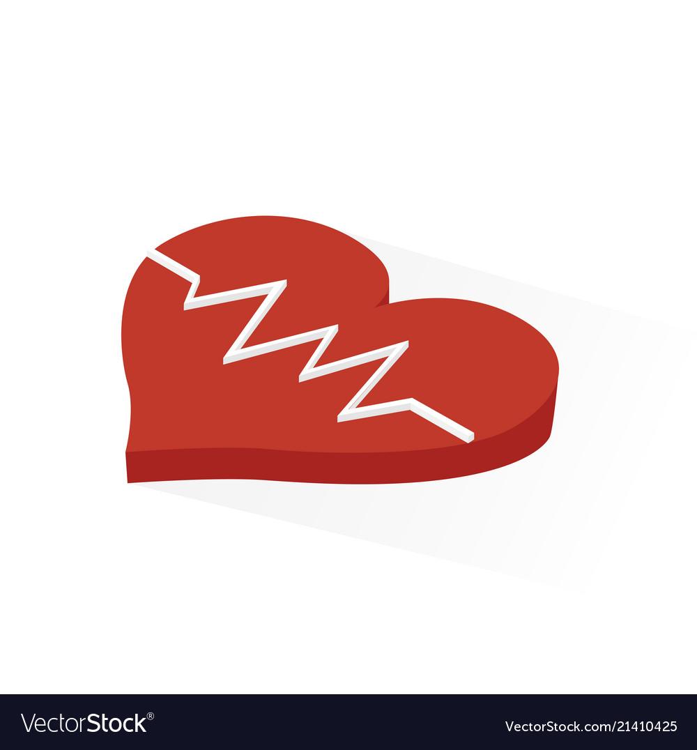 Isometric heart rhythm icon