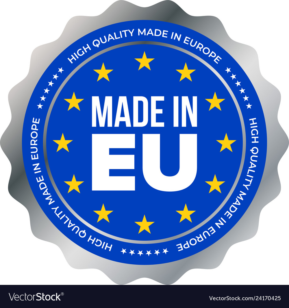 Betere Made in eu high quality mark label european union Vector Image KF-96
