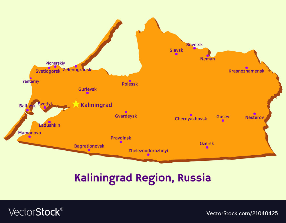 Map of kaliningrad region russia