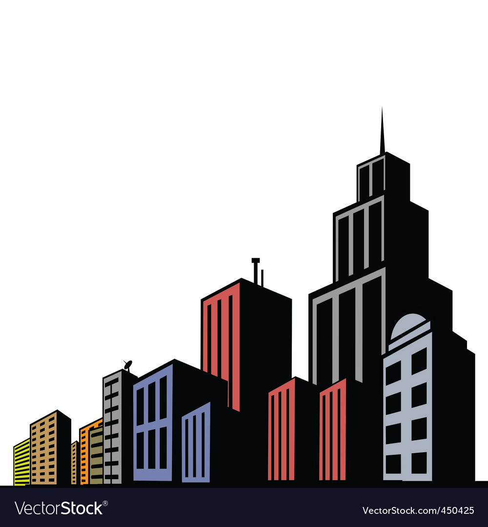 modern buildings royalty free vector image vectorstock rh vectorstock com victor building department victor building lansing mi