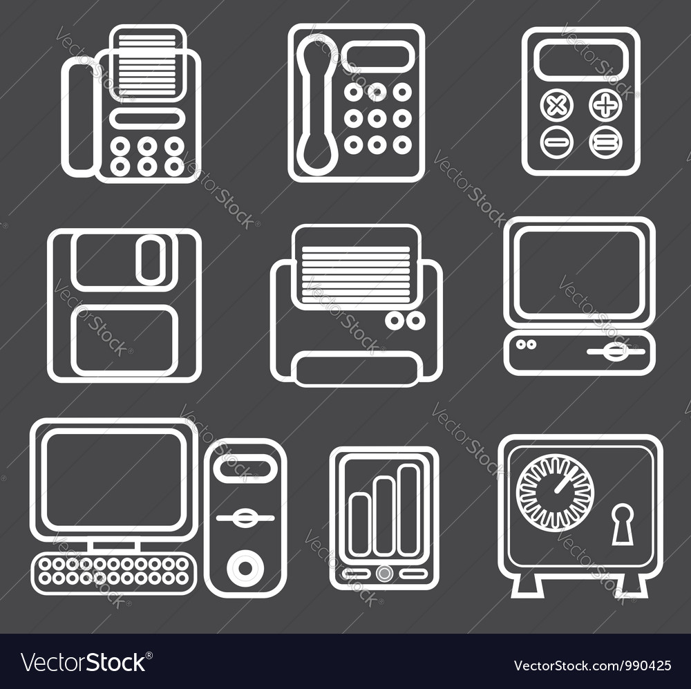 Office icon vector image
