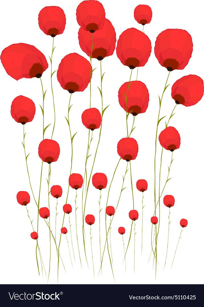 Pretty red flower watercolour royalty free vector image pretty red flower watercolour vector image mightylinksfo