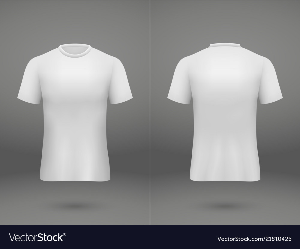 87bc6c8ad Realistic template soccer jersey Royalty Free Vector Image