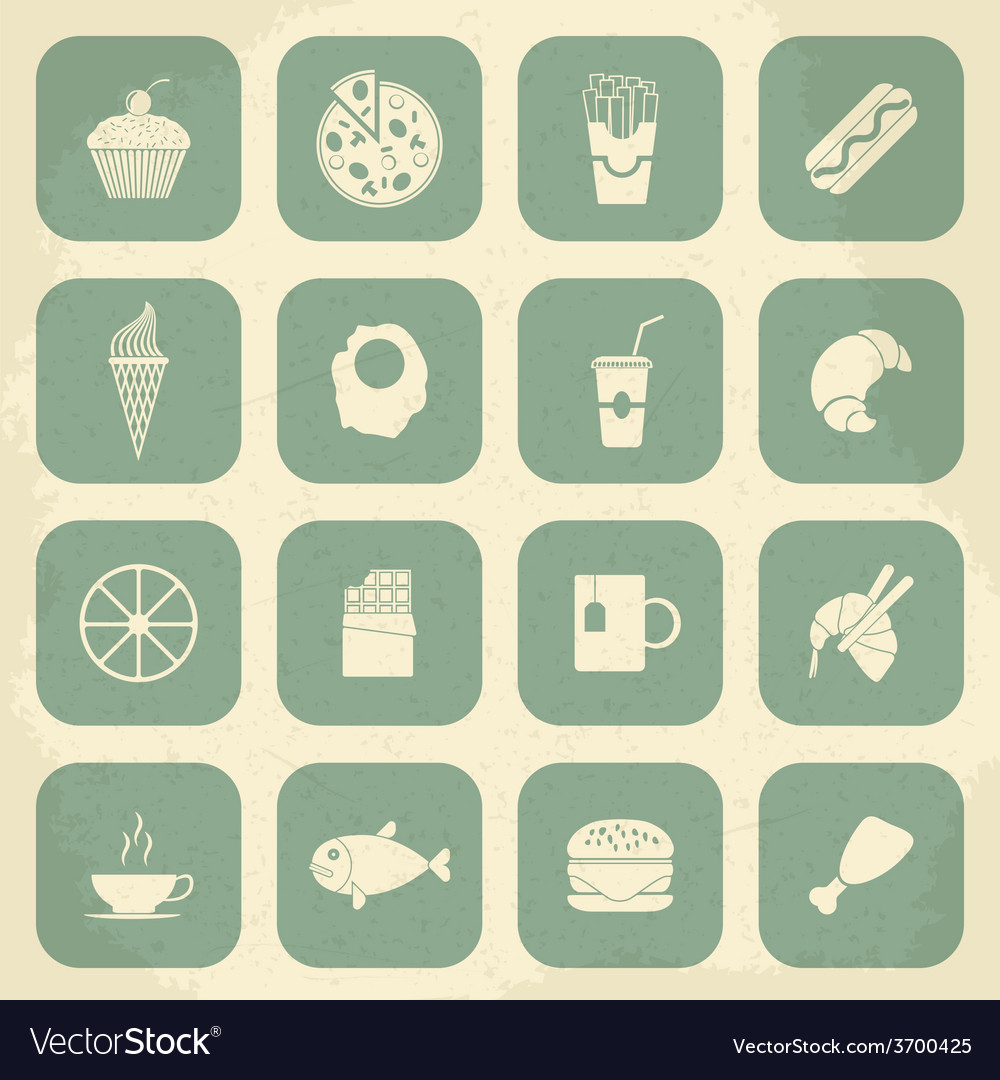 Retro Food Icons