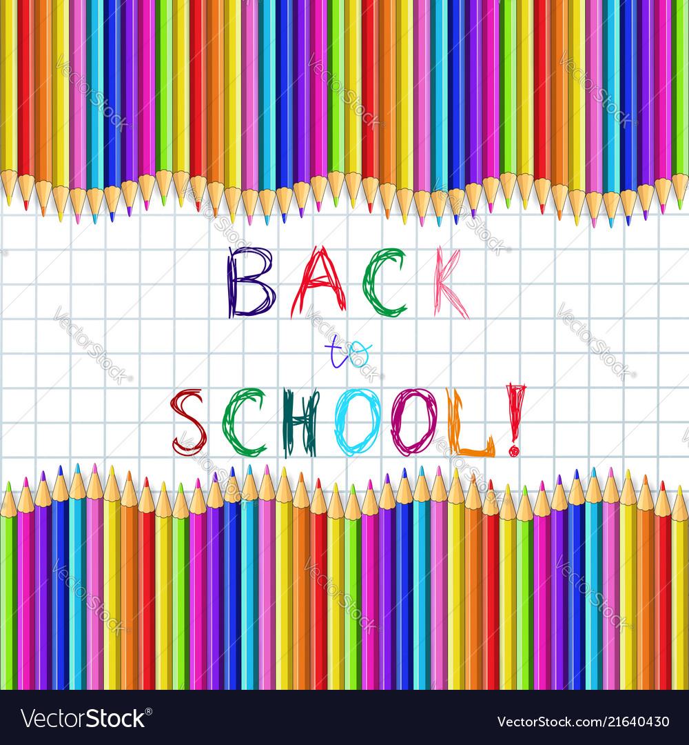 Back to school sketchy inscription on notebook