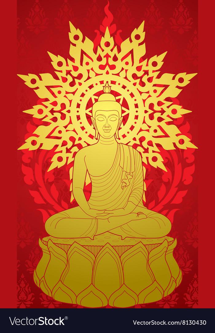 Buddha Miditaion vector image