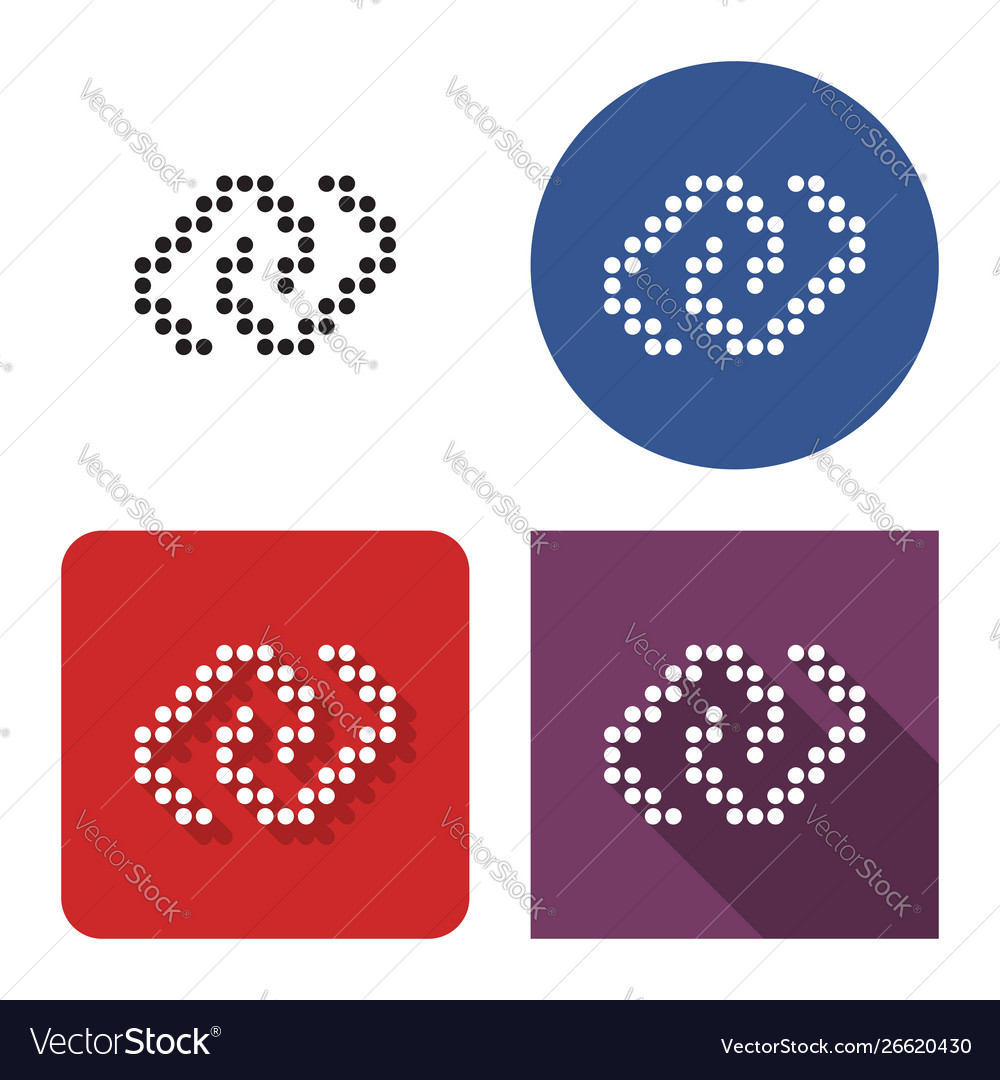 Dotted icon unlinked chain in four variants