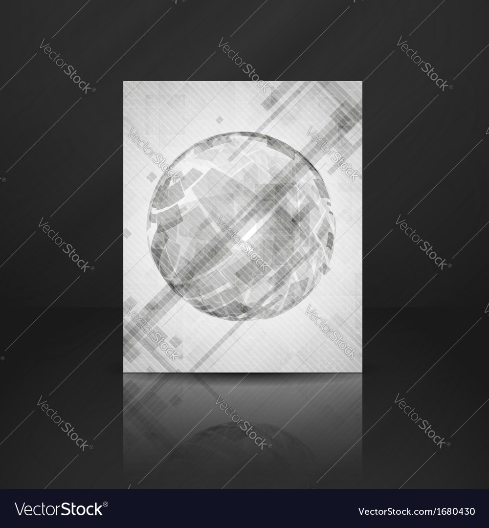 Gray Globe Design vector image