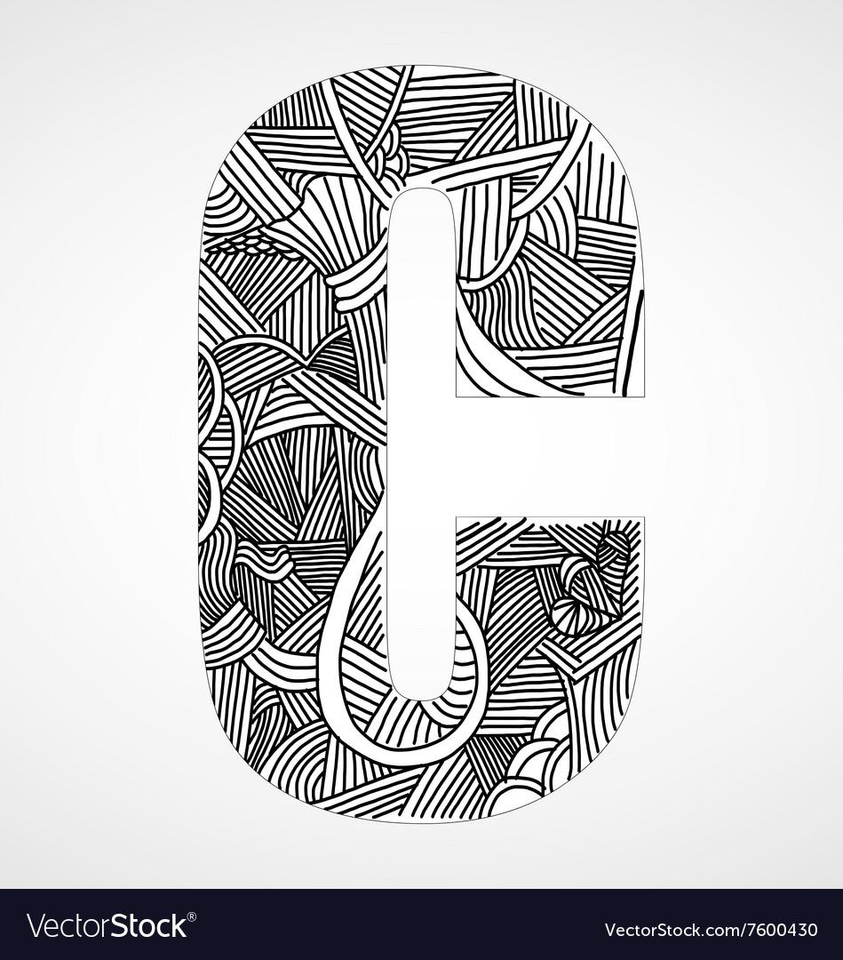 Letter C from doodle alphabet