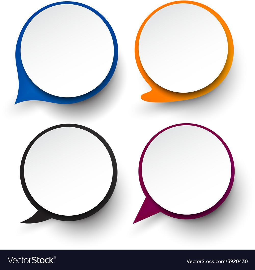 paper set of round speech bubble royalty free vector image rh vectorstock com bubble vector png bubble vector cartoon