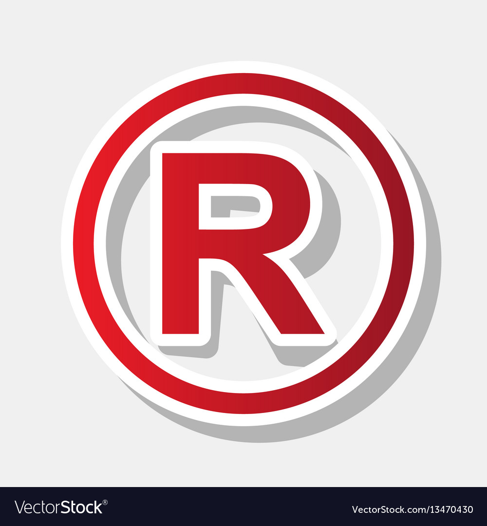 Registered Trademark Sign New Year Royalty Free Vector Image