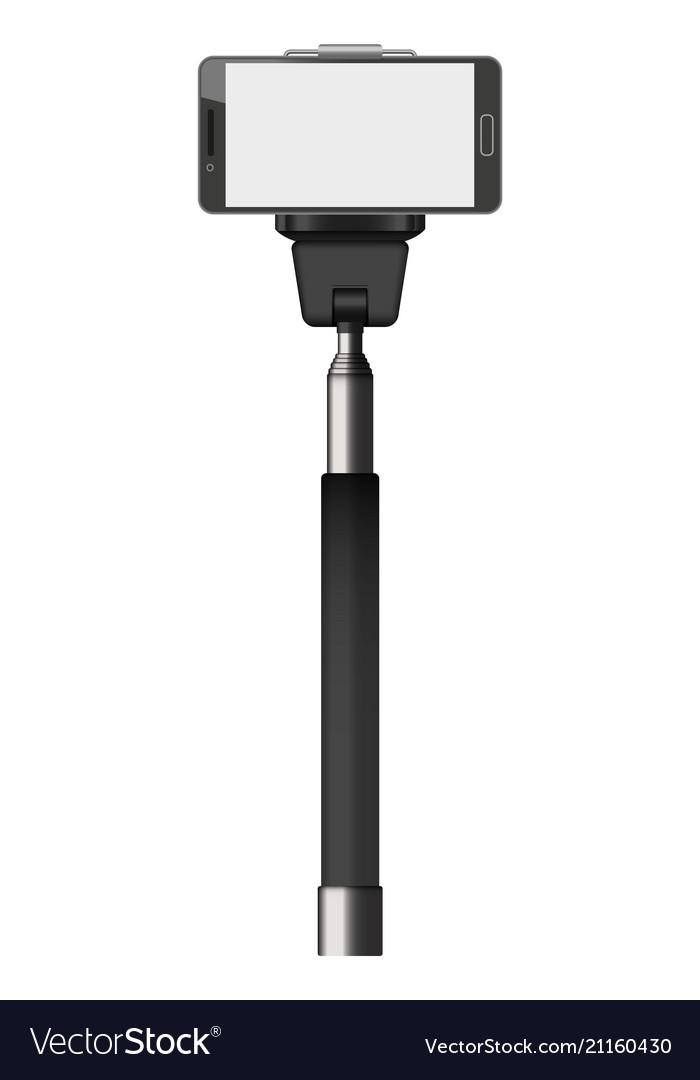 Selfie stick mockup realistic style