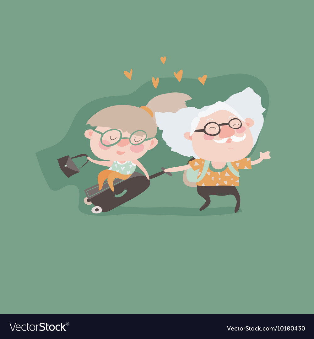 Travel in old age concept