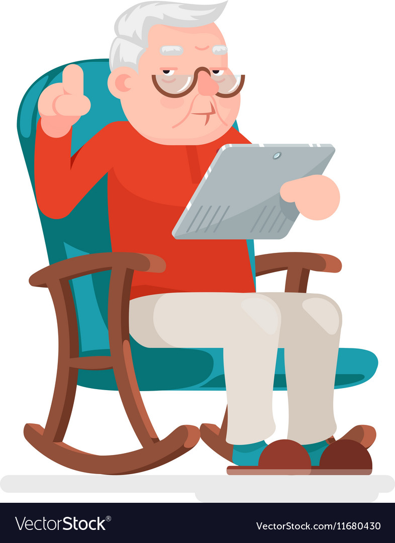 Old man online
