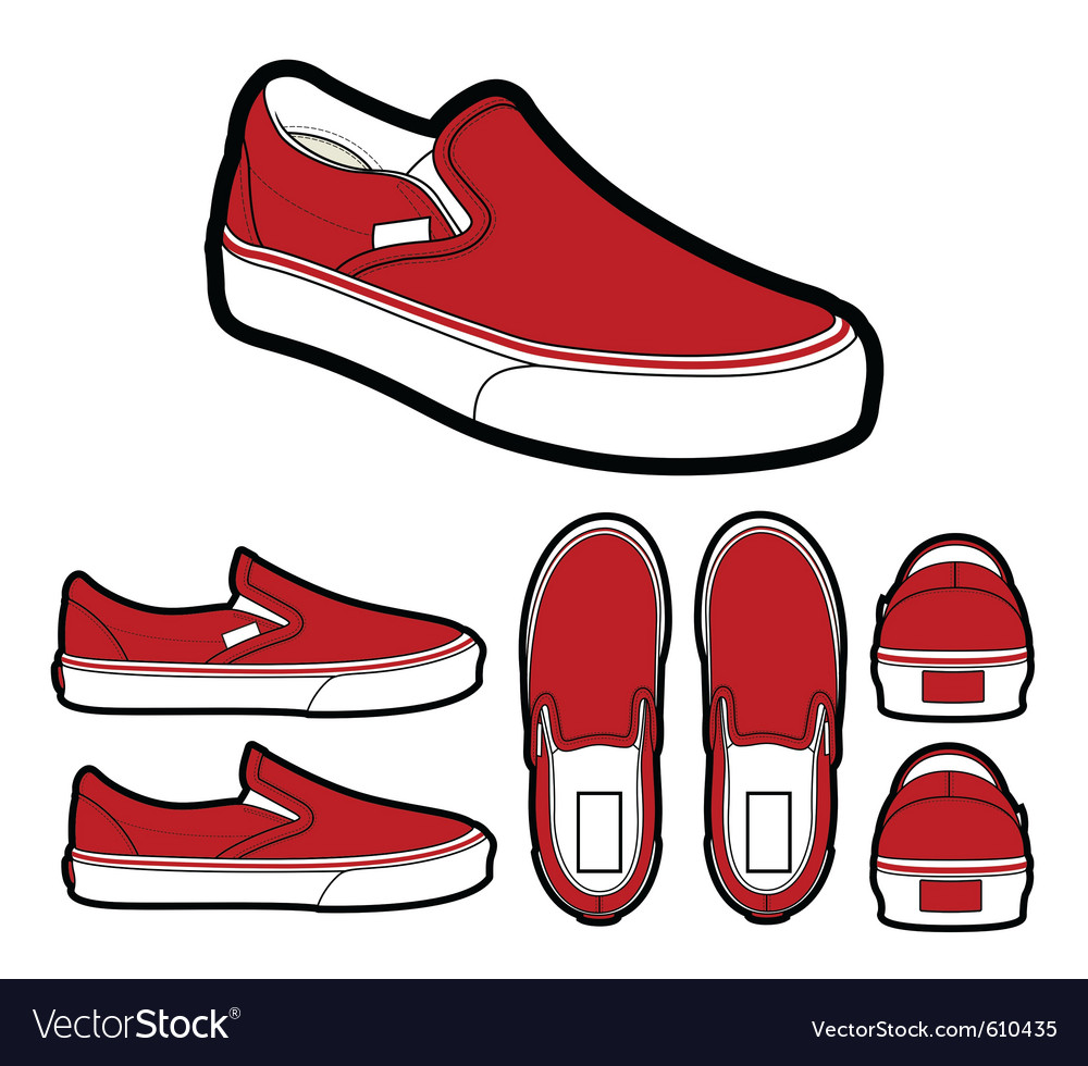 0ba0c577d3 Classic slip on shoes Royalty Free Vector Image