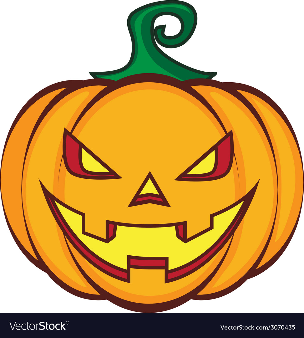 Halloween Pumpkin Cartoon Images.Halloween Cartoon Pumpkin Jack Lantern Isolated On