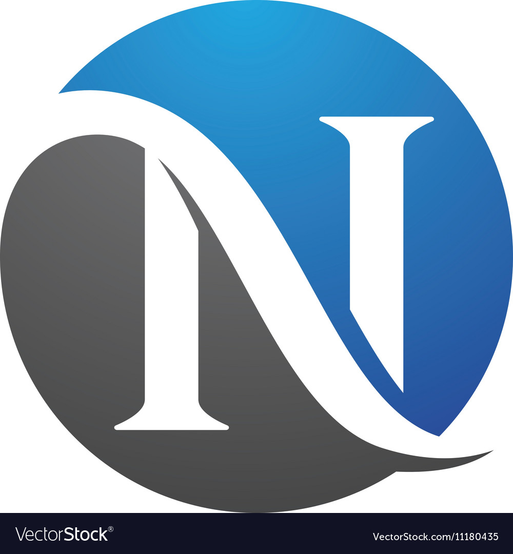 n letter logo template royalty free vector image