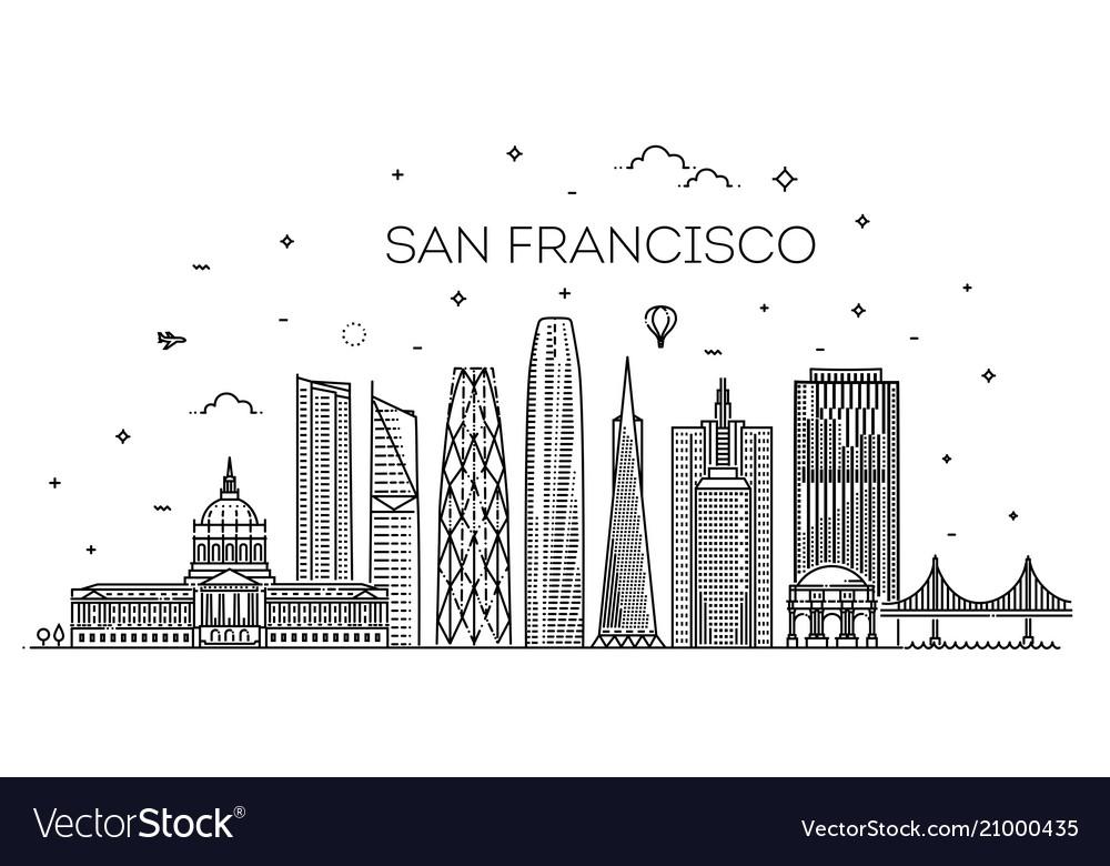 San francisco city skyline background