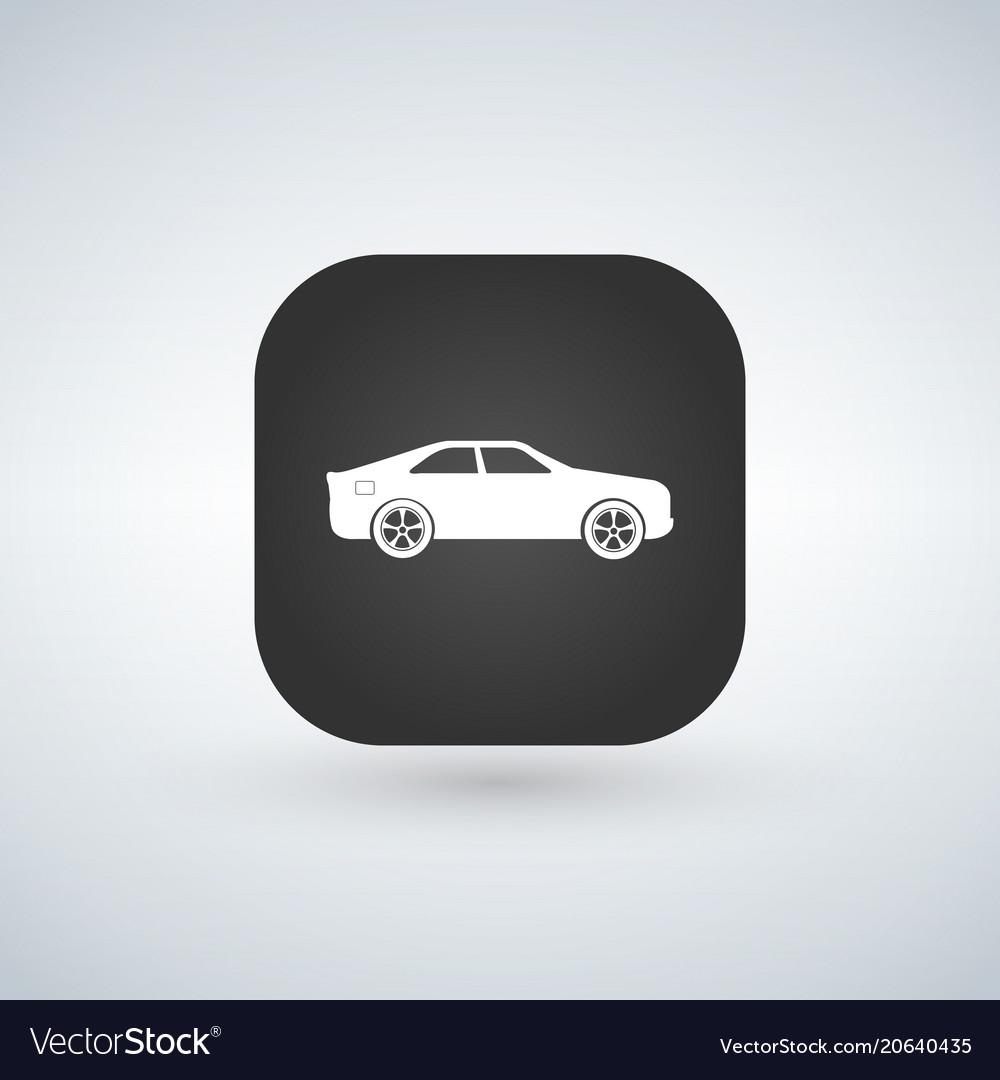 Sedan Car Model Over Black Icon Vector Image