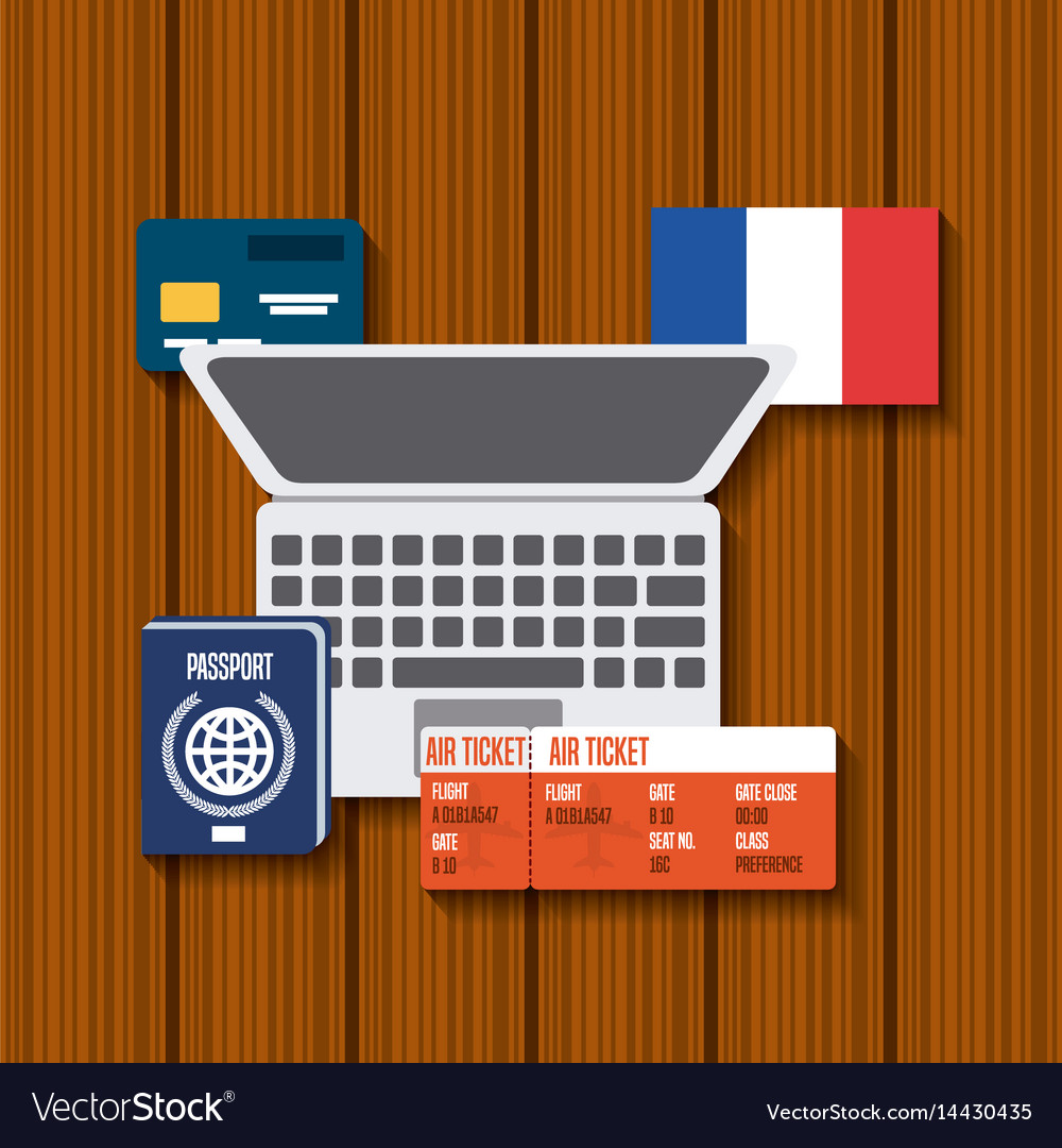 Trip to france icons